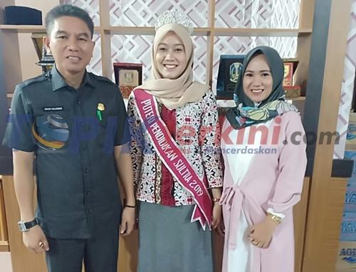 Putri Konsel Terpilih Sebagai Putri Pendidikan Sultra, Ketua DPRD Beri Apresiasi