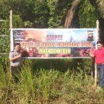 Stop Karhutla, PT. KSP Belitang Pasang Spanduk Himbauan