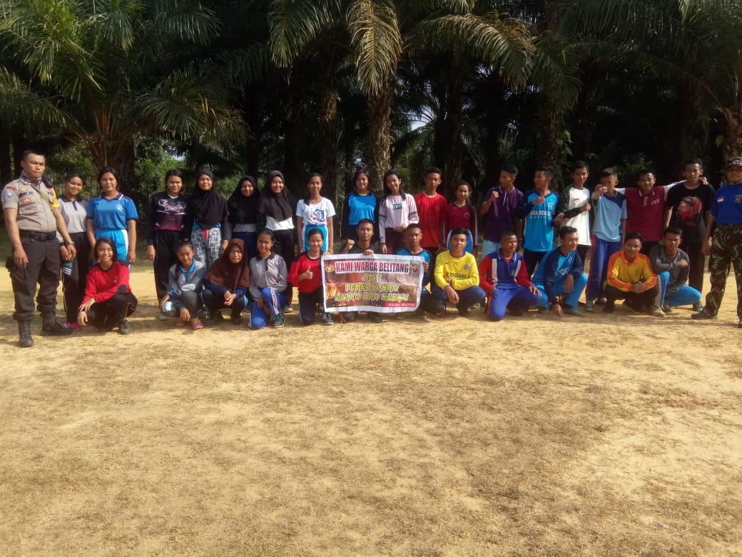 TNI-Polri Bersama Paskibra Kecamatan Belitang Kampanye Anti Karhutla
