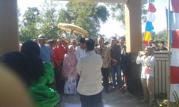 Penjemputan Pendaftar Calon Kepala Desa Lentu Berlangsung Meriah dan Aman