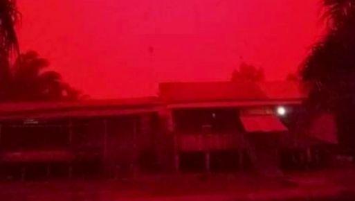 Fenomena Langit merah di Jambi disebabkan oleh kabut yang menyaring sinar matahari