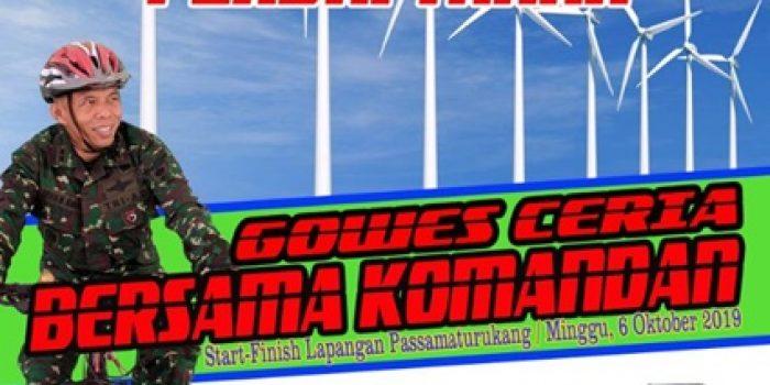 Momentum HUT TNI Ke 74, Kodim 1425 Jeneponto Gelar Gowes bersama Komandan