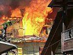 VIDEO: Belasan Rumah Ludes Dilalap Sijago Merah di Desa Borong Tala Kab Jeneponto