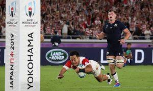 Jepang kalahkan Skotlandia untuk mencapai perempat final Piala Dunia untuk pertama kalinya