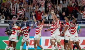Jepang mendedikasikan kemenangan bersejarah untuk para korban topan
