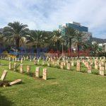 Makam Militer Persemakmuran peran dunia pertama dan kedua Israel dicoret-coret OTK