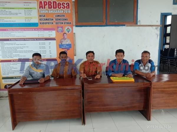 Panitia Pemilihan Anggota BPD Desa Langere Lakukan Sosialisasi Tentang Pedoman Pemilihan Anggota BPD