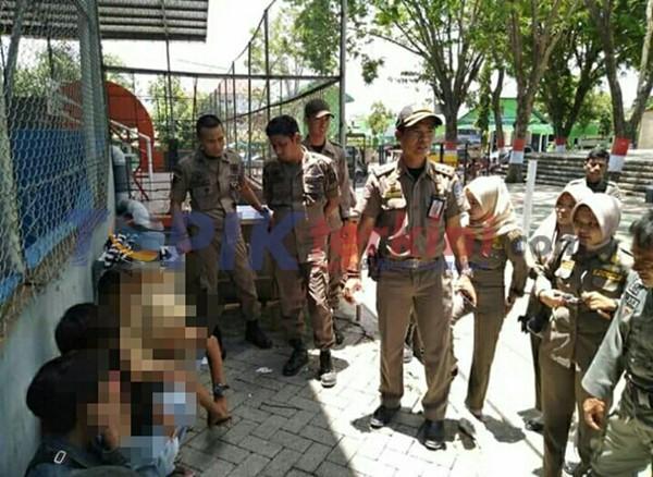 Hisap LEM, 5 Remaja Diamankan SATPOL PP Bone 1 Diantaranya Perempuan