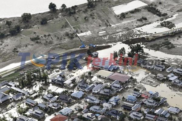 Jepang peringatkan akan lebih banyak hujan dan resiko tanah longsor di daerah yang dilanda topan