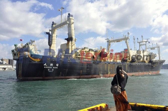 Kapal penangkap ikan paus Jepang kembali setelah perburuan komersial pertama