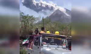 Letusa Gunung Merapi Hasilkan abu setinggi 1.000 meter