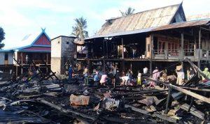 Kebakaran di Bungung Kanunang hanguskan 4 Unit Rumah dan membakar 2 Orang