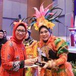 Hamsiah iksan bawa TP.PKK jeneponto Juara di Makassar