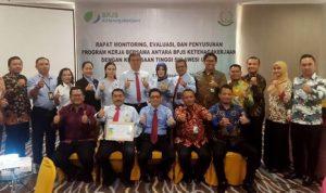 Kajati Sulut membuka Kegiatan Bidang Perdata Dan Tata Usaha Negara Penyusunan Program Kerja Antara BPJS Ketenagakerjaan