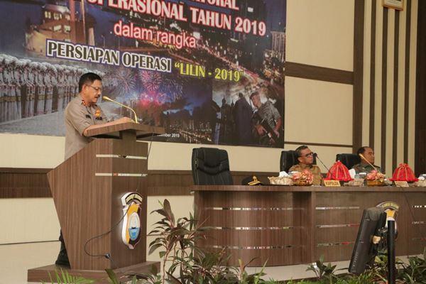Kapolda Sulsel Pimpin Rakor Lintas Sektoral Kesiapan Ops Lilin 2019