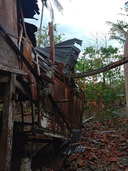 Angin Puting Beliung Menerjang 2 Desa dan Memporak -porandakan 6 Rumah Milik