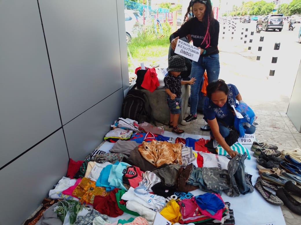 Kreatif, Puluhan anak mudah buka pasar Gratis bagi Masyarakat