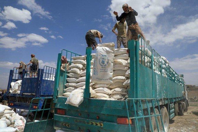 Bantuan Bahan Pangan di Jarah di daerah yang dikuasai milisi Houthi Yaman