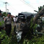 Diduga kaget dan hilang keseimbangan di Tikungan, Pelaut Asal Makassar Tewas Usai Nabrak Pohon di Bone