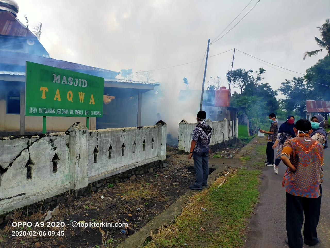 Antispasi Demam Berdarah, Dinas Kesehatan Jeneponto Lakukan Fogging di Desa Barana