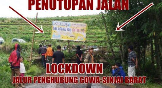 VIDEO: Penutupan Jalur Akses jalan Penghungung Gowa - Sinjai
