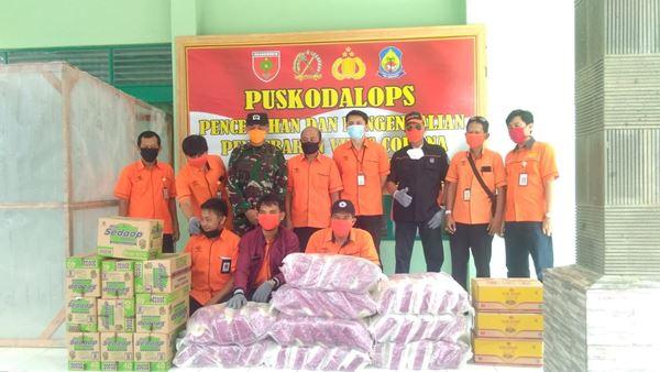 Gugus Tugas Covid 19 terima rombongan PT. Pos Indonesia di Poskodalops