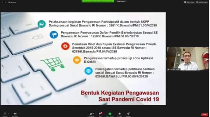 Evaluasi Pengawasan Selama Pendemi Covid-19, Bawaslu Provinsi Agendakan Rakor