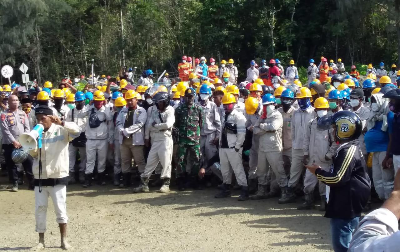 Minta Penangguhan Penahanan 13 Pekerja, PC SPSI Halteng Menyurat ke Kapolda Malut