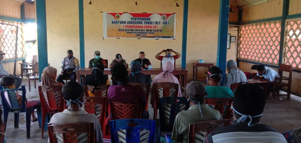 Penyaluran BLT Dana Desa Kluting Jaya, Pj Kades Gandeng Semua Pihak