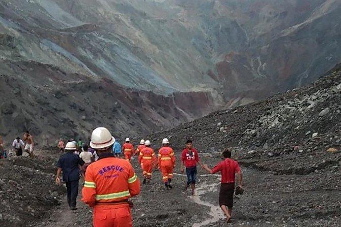Tanah longsor di tambang batu giok Myanmar menewaskan sedikitnya 123 orang