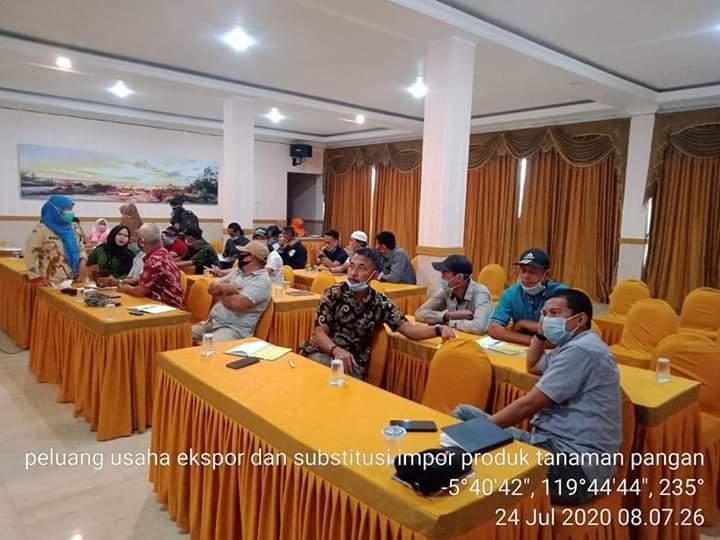 Dinas Pertanian Jeneponto Gelar Rapat Koordinasi Peluang Usaha Ekspor dan Subtitusi Impor Produk Tanaman Pangan