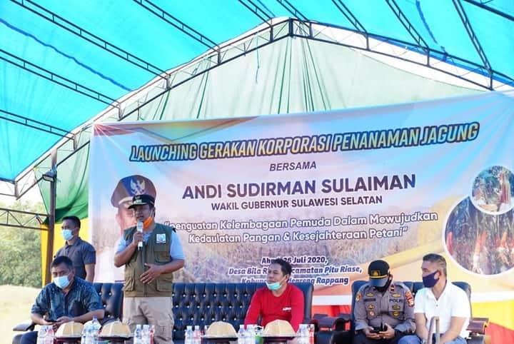 Hadiri Launching Gerakan Korporasi Penanaman Jagung, Wagub Dorong Pemuda Penggerak Kedaulatan Pertanian