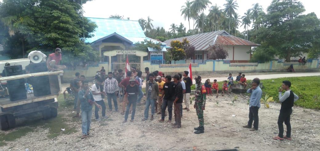 Tolak Calon Camat Baru Patani Timur, Puluhan Pemuda dan Mahasiswa Gelar Aksi