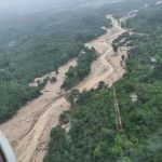 Bersama Mentteri PUPR, Gubernur Tinjau Hulu Sungai Masamba Lewat Udara