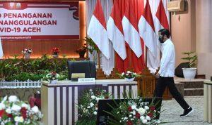 Presiden Joko Widodo Minta Kasus Positif Covid-19 di Aceh Tidak Dibiarkan Membesar
