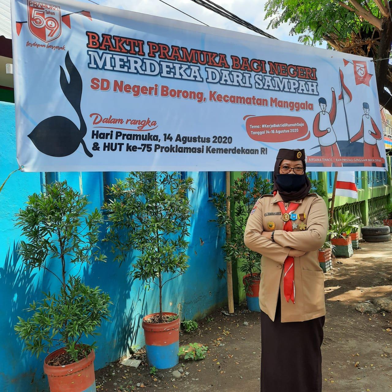 Peringati Hari Pramuka, Murid SDN Borong Kerja Bakti di Rumah