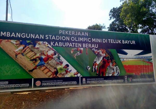 Butuh Pembebasan Lahan lagi guna Merampungkan Stadium Olimpic Mini Berau