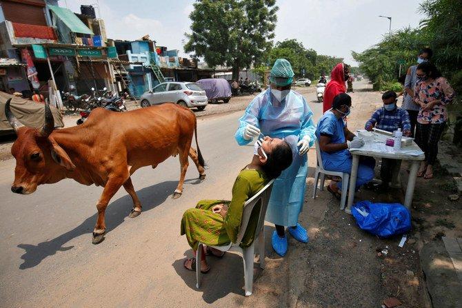 India menjadi negara ketiga yang melewati empat juta kasus virus korona