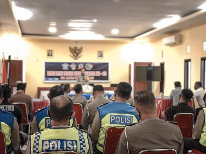 Dirlantas Polda Sulsel Hadiri Perayaan HUT Lalu Lintas Ke-65 di Takalar