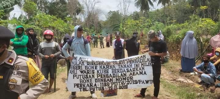 Bawa BOM Molotov dan Bambu Runcing Untuk Halangi Eksekusi Lahan, Oknum Ibu Persit Bakal di Polisikan
