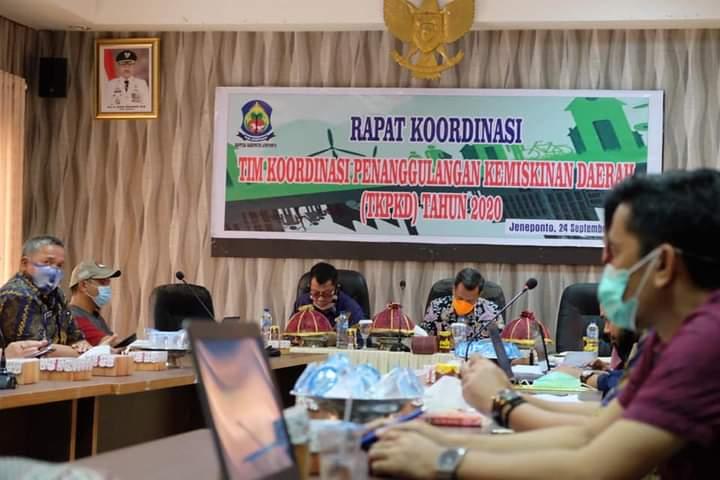 Wakil Bupati Jeneponto H. Paris Yasir Pimpin Rakor TPKD