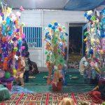 Peringati Maulud Nabi, Masyarakat Tudungano Lomba Bunga Male Tingkat Dusun
