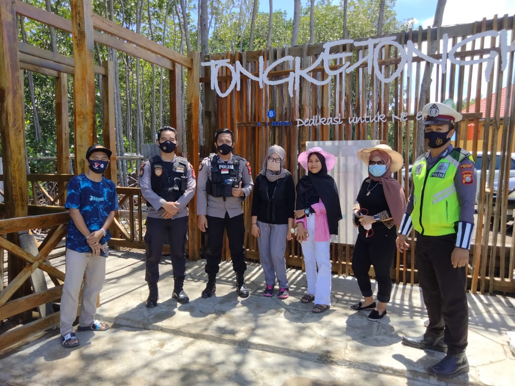 Patroli Wisata, Personel Polres Sinjai Himbau Kamtibmas dan Protkes di Hari Libur