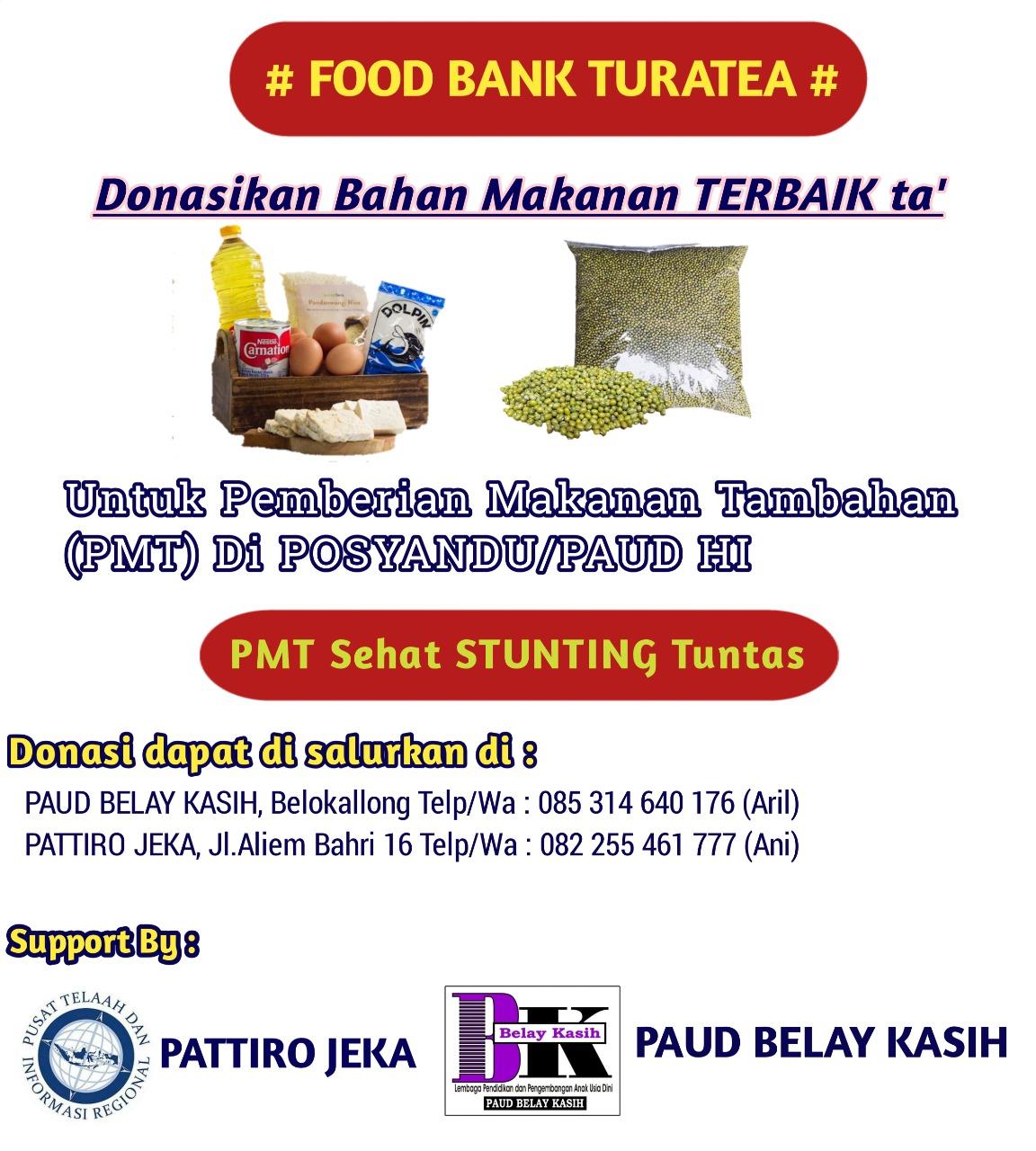 Bekerjasama PAUD BELAI KASIH, PATTIRO JEKA Akan Launching Food Bank Turatea