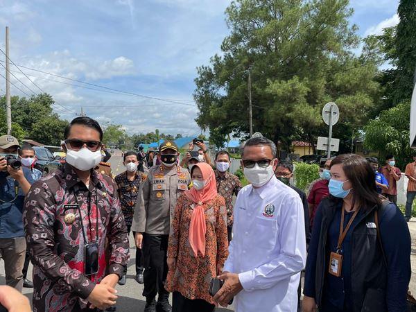 Polres Sinjai Amankan Kegiatan Kunjungan Kerja Gubernur Sulsel Dikabupaten Sinjai
