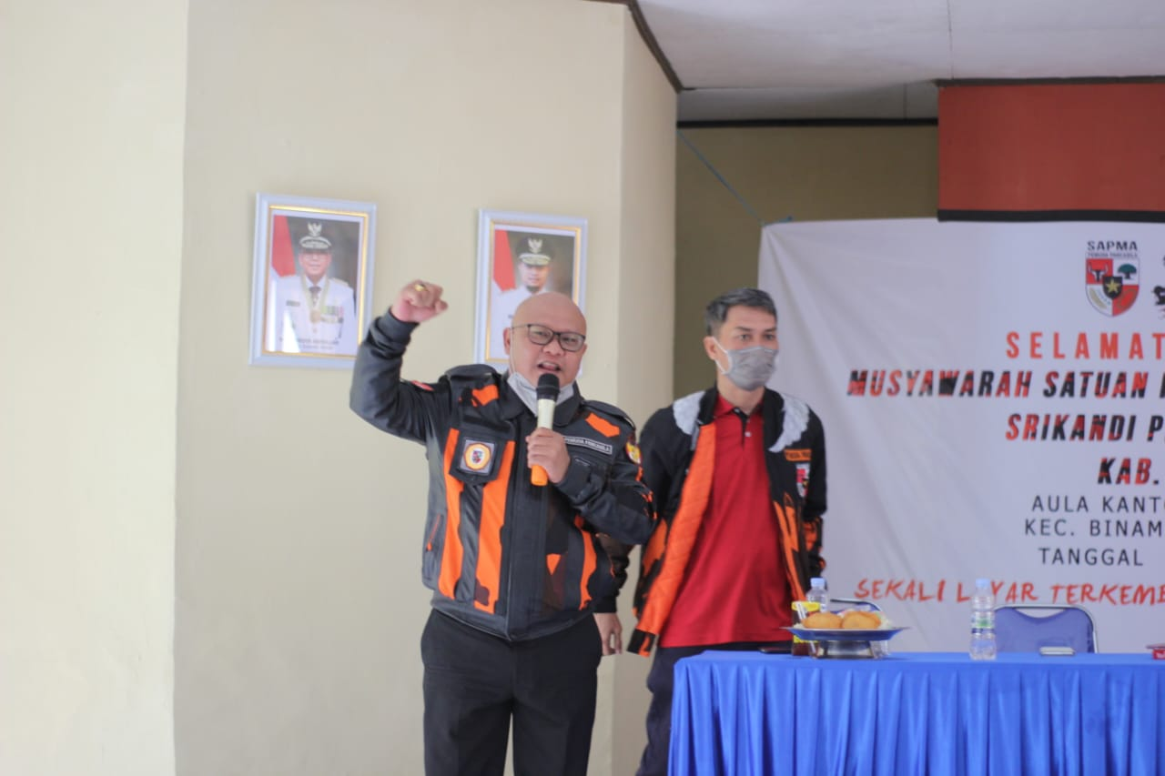 Ikram Ishak Iskandar Buka Muscab Sapma dan Srikandi MPC Pemuda Pancasila Jeneponto