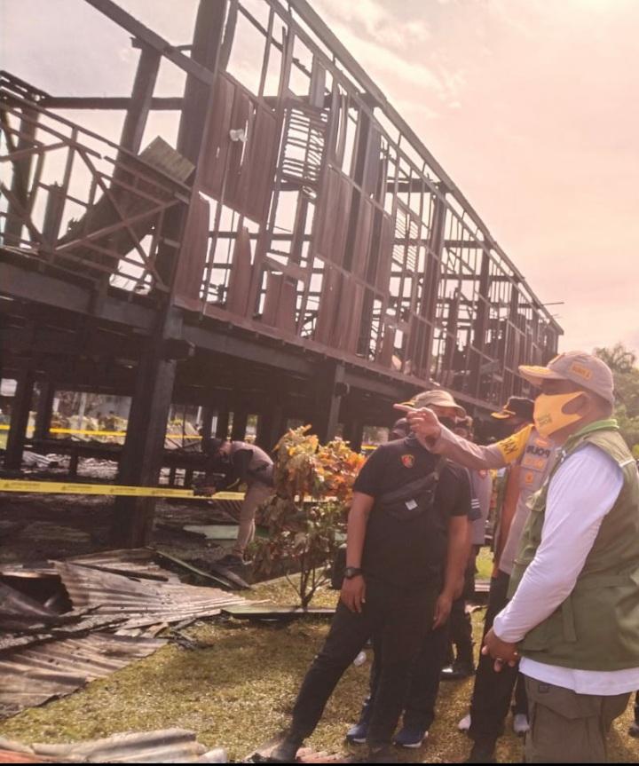 Raja Gowa Ucapkan Dukacita yang mendalam atas musibah kebakaran Situs Sejarah BOLA SOBA di Bone