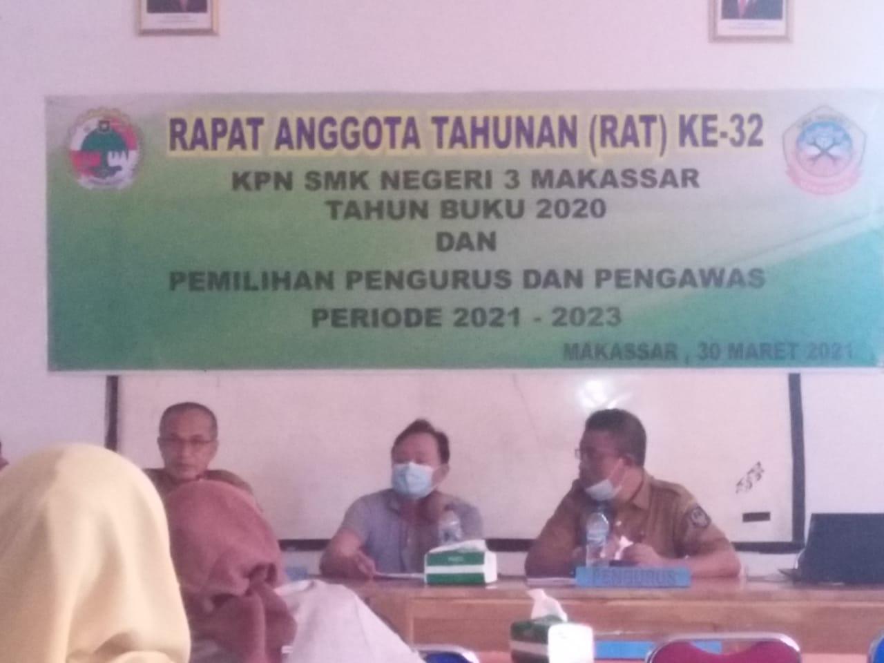 Pemilihan Pengurus dan Pengawas KPN SMKN 3 Makassar Periode 2021-2023