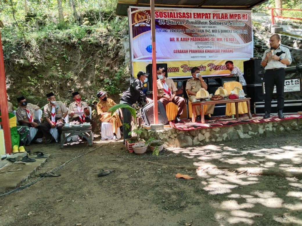 Ajiep Padindang Sosialisasi Empat Pilar MPR RI Ke Gerakan Pramuka Kwarcab Pinrang