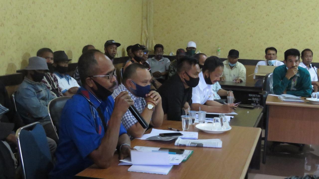 Saling Klaim Lahan, DPRD Konsel menyarankan agar diselesaikan secara kekeluargaan saat RDP